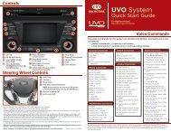 Controls UVO - Kia