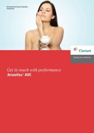 Get in touch with performance Aristoflex® AVC - Clariant