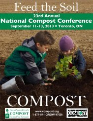 Agenda - Compost Council of Canada