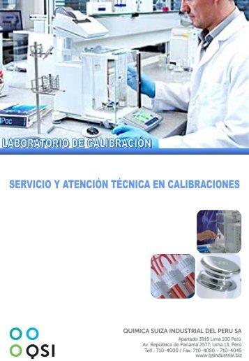 Catálogo - Servicio y Atención Técnica en Calibraciones - Qsi