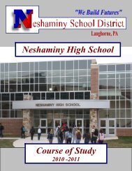 Neshaminy High School Course of Study - Neshaminy School District