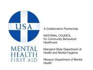 Mental Health First Aid Presentation