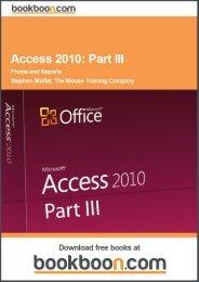 Access 2010: Part III Language English Format: PDF ... - Tutorsindia