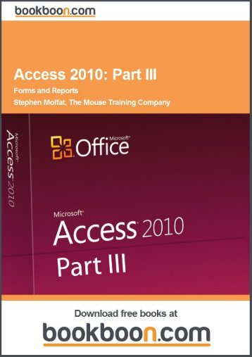 Access 2010: Part III Language English Format: PDF ... - Tutorsindia