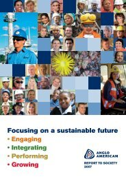 Focusing on a sustainable future