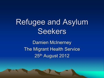Refugee and Asylum Seekers - emergencysa.org.au