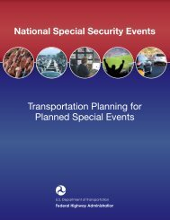 Transportation Planning for Planned Special Events - FHWA ...