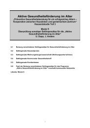 Aktive Gesundheitsförderung im Alter - Bundesministerium für ...