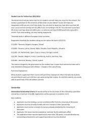 Student Loan for Tuition Fees 2012/2013 - University of Worcester
