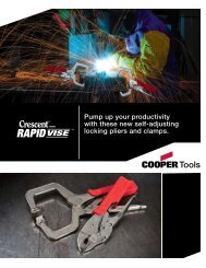 d … uired! - Cooper Hand Tools