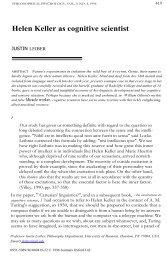 Helen Keller as cognitive scientist - Mailer Fsu