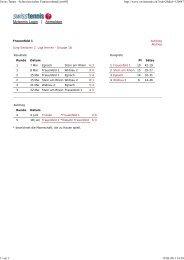 J2 Herren 1 - beim Tennisclub Frauenfeld