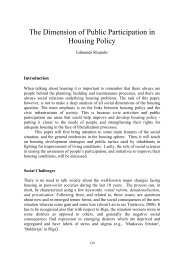 Chapter 9. The Dimension of Public Participation in Housing Policy
