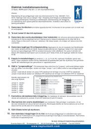 Instruktioner Elinstallation L.A. SPAS 2006 - Neptun
