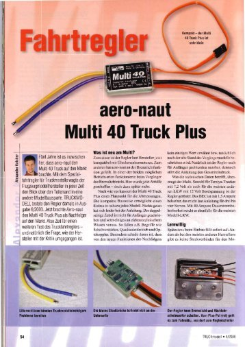 Aeronaut Multi 40 Truck Plus (PDF - 2 MB) - Alex Kalcher