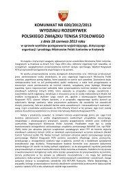 2013.06.18 KOMUNIKAT NR 020/2012/2013 WYDZIAŁU ... - PZTS