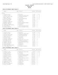 Class B-C - 5/26/2012 Marion HS Results Girls 100 Meter Dash ...