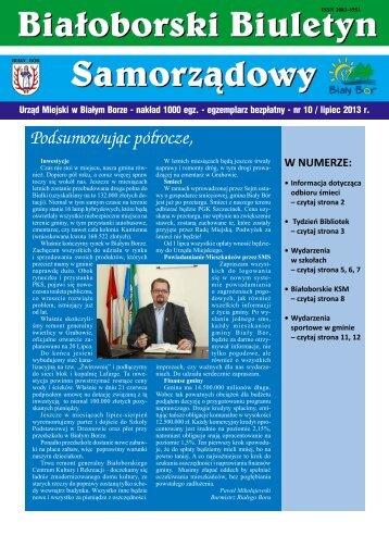 Białoborski Biuletyn Samorządowy nr 10/VII 2013 - Biały Bór