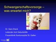 Schwangerschaftsvorsorge - Frauenklinik am Kantonsspital St.Gallen