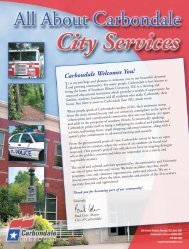 Guide To City Services - Carbondale, IL