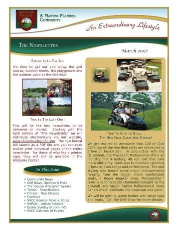MAR 07 Newsletter.indd - Shadow Valley