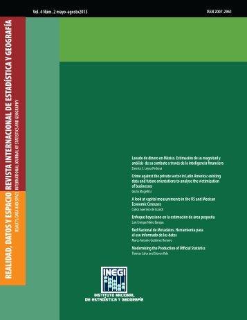 realidad, datos y espacio revista internacional de estadística ... - Inegi