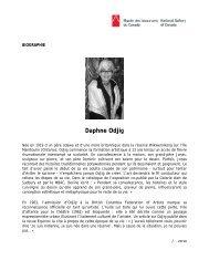 Biographie, Daphne Odjig - Musée des beaux-arts du Canada