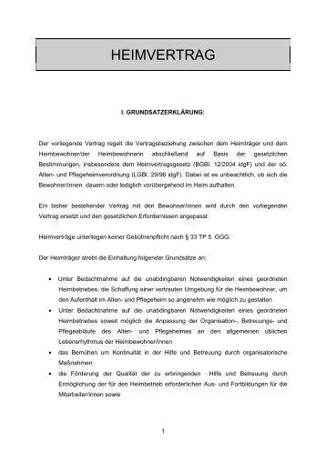 muster heimvertrag sozialhilfeverband braunau am inn - Erbvertrag Muster