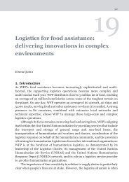 Logistics for food assistance - WFP Remote Access Secure Services
