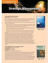 Strategic Management.cdr - Cambridge University Press India