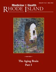 The Aging Brain Part I - Rhode Island Medical Society
