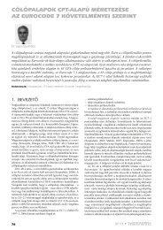 Cölöpalapok CpT-alapú méreTezése az euroCode 7 ...