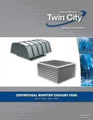 cENTRIFUGAL ROOFTOP EXHAUST FANS - Twin City Fan & Blower