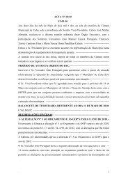. 1 ACTA Nº 10/10 12-05-10 Aos doze dias do mês de Maio de dois ...