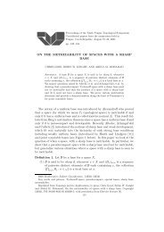 ON THE METRIZABILITY OF SPACES WITH A SHARP BASE The ...