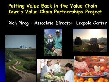 Rich Pirog's Presentation 20Nov2008 - National Good Food Network