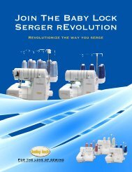Join The Baby Lock Serger rEvolution - A Scarlet Thread