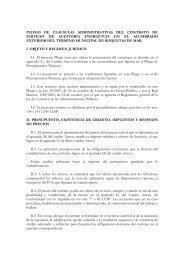 pliego de cláusulas administrativas del contrato de servicio de ...