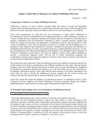 Japan's Action Plan of Measures to Combat ... - Bali Process