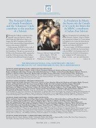 La Fondation du Musée des beaux-arts du Canada et le Cercle des ...
