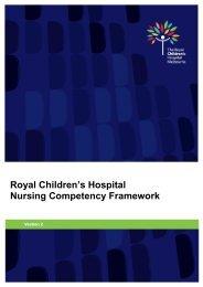 Nursing Competency Framework - The Royal Children's Hospital