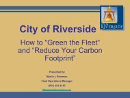 City of Riverside - Low Carbon Fuels Conference Series