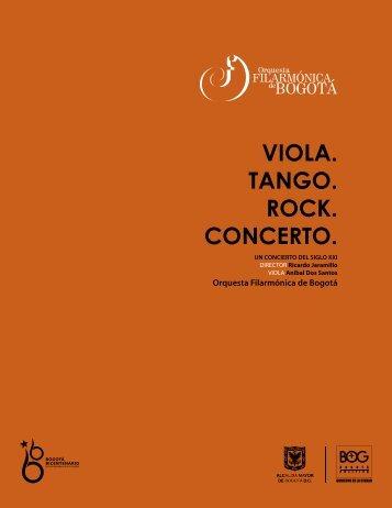 viola. tango. rock. concerto. - Orquesta Filarmónica de Bogotá