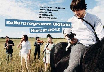 Kultur in Götzis lebt! - Marktgemeinde Götzis