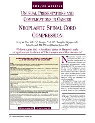 NEOPLASTIC SPINAL CORD COMPRESSION
