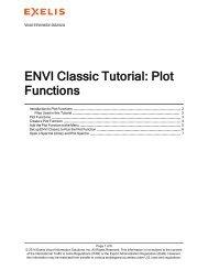 ENVI Classic Plot Functions - Exelis VIS