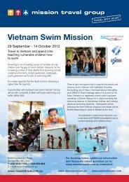 Vietnam Swim Mission 2012 - Mission Travel