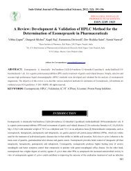 A Review: Development & Validation of HPLC Method - Indo Global ...