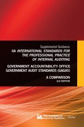 IIA InternatIonal StandardS for the ProfeSSIonal PractIce of