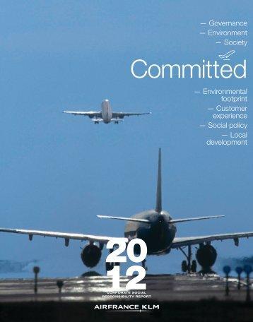 CSR Report 2012 - Air France